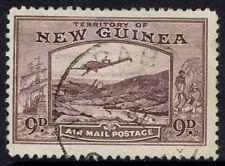 NEW GUINEA 1939 BULOLO AIRMAIL 9D USED