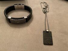 Nwt Retail $795 Camo Brand New Emporio Armani Bracelet Necklace Tag Mens Lot