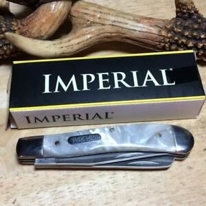 """Imperial Schrade Cracked Ice Celluloid Trapper 4"""" Pocket Knife IMP13L"""