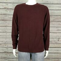 Tommy Bahama Pullover Crewneck Sweater XL Men's Maroon Burgundy Silk Blend