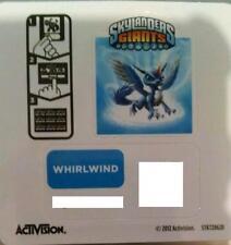 Whirlwind Skylanders Giants Sticker/Code Only!