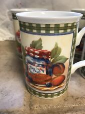 EUC Vintage Designer Set of 4 Coffee Cups/Mugs Country Kitchen by Roy Kirkham