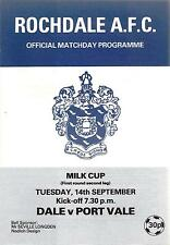 Rochdale v Port Vale - Milk Cup - 1982/83
