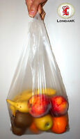 1000 clear see-through super market carrier vest bag sacks 37cm x 47cm