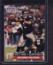Brett Favre 1991 Pro Set Football Rookie RC # 762 Atlanta Falcons QB NEAR MINT