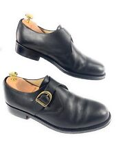 Barney's New York Monk Strap Black Leather Dress Shoes Made in Italy Men's 10 44