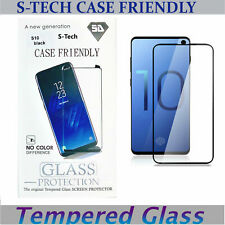 For Samsung Galaxy S10 Case Friendly Clear Tempered Glass Screen Protector