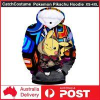 Amime Game Pokemon Pikachu Hoodie Men Women Sweatshirt Pullover Hooded Coat