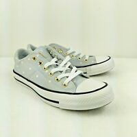 Converse Womens Chuck Taylor All Star Madison Ox, 560689C  PPlatinum/gold/white