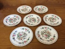 7 Aynsley PEMBROKE (GOLD TRIM) Bread & Butter Plates - Excellent
