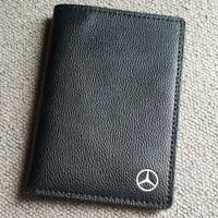 Mercedes Benz Passport Case Black Leather 14x10cm Novelty Rare Not Sold in store