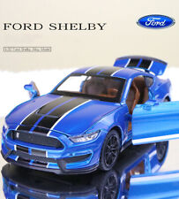 Blue 1:32 Ford Mustang Shelby GT350 Diecast Model With Sound & Light 4-Door Open