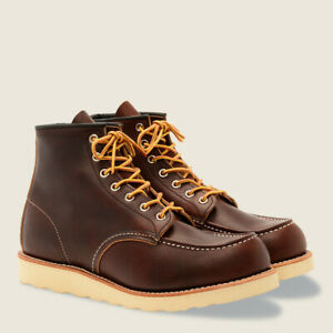"""Red Wing Classic Mock's 6"""" Boot # 8138 Briar Oil Slick Leather D Regular Width"""