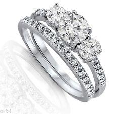 Silver Ring Set Size 3 - 12 Brilliant Cut Engagement Wedding Cz Genuine Sterling