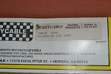 NOS Terrycable Suzuki Clutch cable #2190 89' RM125
