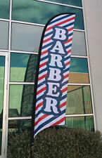 3.5m Barber Replacement Flag/ Hair Salon Sign Flag Banner (Excl. Pole & Base)