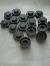 "100 grey HEXAGONAL TEK TEC TECH SCREW COVER CAPS  FIT 8mm (5/16"") TEK SCREWS"
