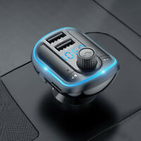 Car Wireless Bluetooth 5.0 FM Transmitter Radio Adapter MP3 Player 2 USB Charger