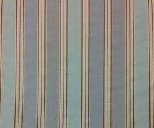 "RICHLOOM BANTRY BLUESKY STRIPE LIGHT DRAPERY CURTAIN FABRIC BY THE YARD 54""W"