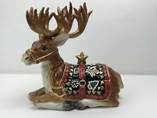 Fitz and Floyd Classics Christmas Lodge Deer Lidded Box 19/1372 Discontinued