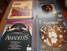 CED Lot of 7 Video Discs  Movies & Music Gandhi.Spartacus Amadeus