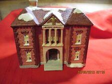 Bisque Porcelain Christmas city hall  village