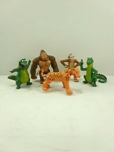 Rain Forest Cafe Wild Bunch Lot of 5 PVC Figures Poseable Jungle Safari
