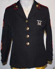 USMC Womens Dress Blue Uniform Coat Size 10s With Stripes