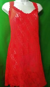 NEW HANKY PANKY 485214X CRLG SIGNATURE MADE IN USA LACE CHEMISE 2X