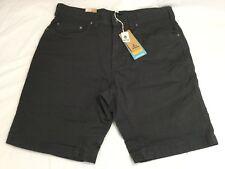 "NWT ~ prAna Men's Bronson Organic Cotton Shorts ~ Sz 34 / 9"" Inseam ~ Charcoal"