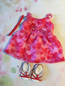 American Girl Doll - Genuine Red Hearts Ruffle Outfit (1B)