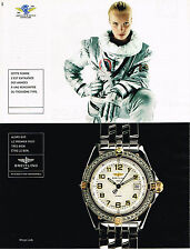 PUBLICITE ADVERTISING 124  1998  BREITLING  montre  WINGS LADY  cent AERO-CLUB
