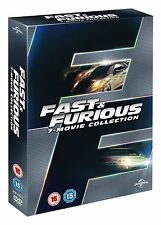 FAST & FURIOUS 1-7 Movie Collection Boxset (DVD, 2015, 7-Disc Set) BRAND NEW