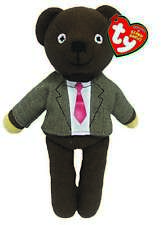 OFFICIAL TY BEANIE BOO BABIES MR BEAN BEANS TEDDY IN SUIT PLUSH SOFT TOY NEW
