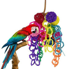 Pets Parrot's Bird Chewing Toys Vine Wood Large Rope Cave Ladder Hang Toys UK