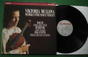 Viktoria Mullova Works For Solo Violin Bach Bartok Paganini 420 948-1 LP