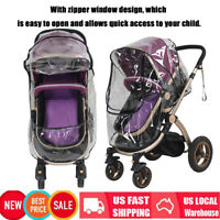 Universal Waterproof Baby Stroller Rain Cover Dust Wind Shield Pram Accessory