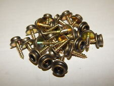 """25 SCREW-IN SNAP FASTENERS STUDS BUTTONS 5/8"""" ANTIQUE BRASS FINISH UPHOLSTERY"""