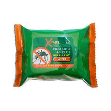 1x Xpel Tropical Formula Mosquito & Insect Repellent Wipes 25's - 100 in total