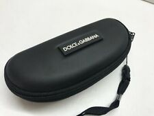 LOT 2 DOLCE & GABBANA Black Zip Around Sunglasses Case Clam Shell  Small