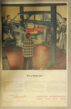 Chrysler War Production Ad: It's A Frame-up! 1946 Size: 11 x 15 Inches