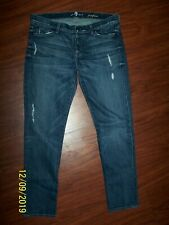 7 FOR ALL MANKIND BRAND JEANS SZ 29 JOSEFINA STYLE BUTTON FLY DISTRESSED PERFECT
