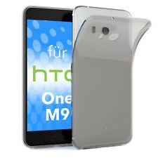 Schutz Hülle für HTC One M9 Case Silikon Handy Cover Hellgrau