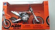 Newray - KTM 450 SX-F in Orange - 1:10 DieCast 2014 Motocross Motorbike Model MX