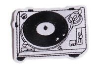 Record Player Patch Turntable DJ Vinyl Embroidered Iron Sew On Badge Decks LP