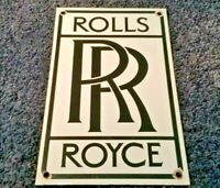 VINTAGE ROLLS ROYCE PORCELAIN GAS OIL AUTO GERMAN SERVICE DEALERSHIP MOTOR SIGN