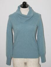 Marks and Spencer 100% Cashmere Blue Cowl Neck Sweater S