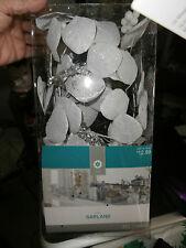 5 Foot Lighted Silver Metallic Garland Home Decor