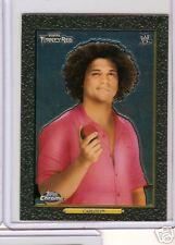 WWE Heritage II Chrome Trading Card - Carlito # 92 - Turkey Red