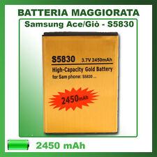 Batteria S5830 SAMSUNG Ace Giò Wave 2450mAh maggiorata potenziata